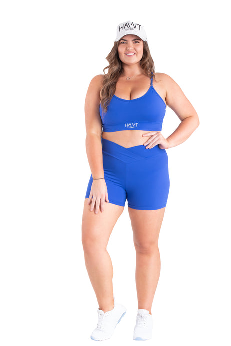 Blue Couture -Sports Bra Plus Size - Hawt_Clothing