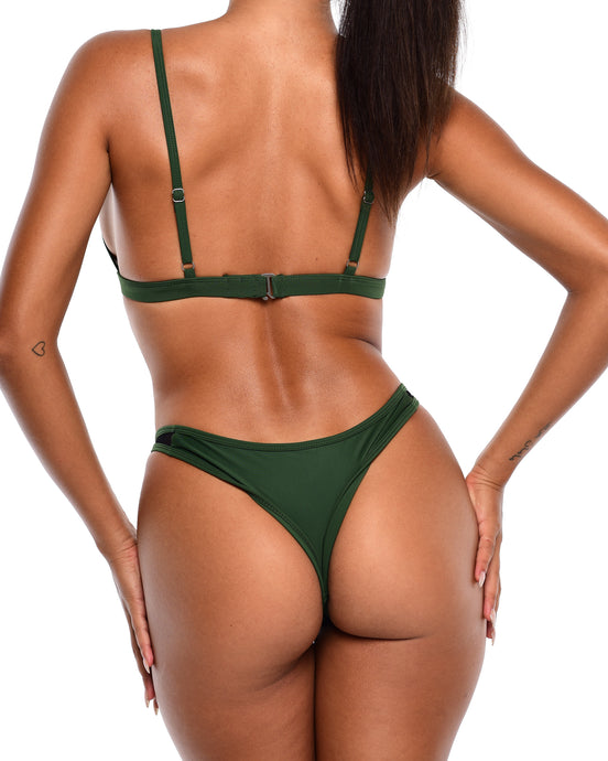 NYX Mesh Bikini Bottoms -Royal Green - Hawt_Clothing