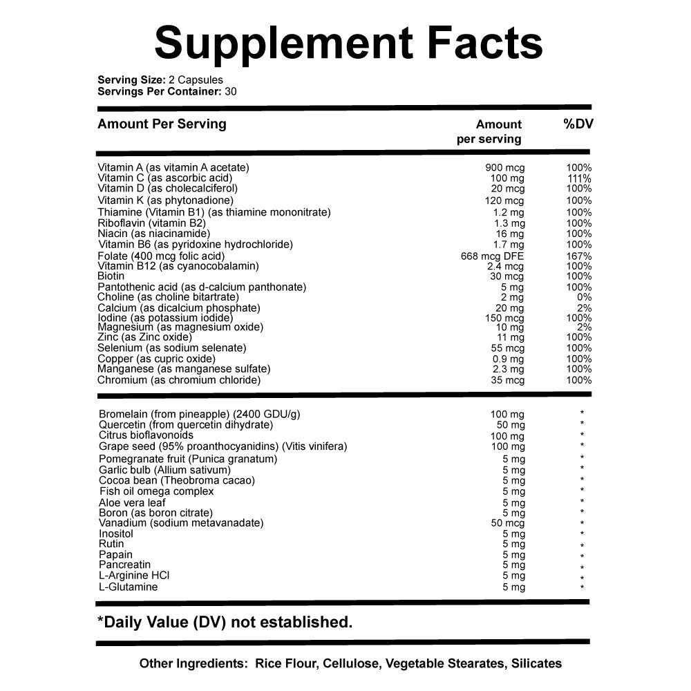 Rev'heal supplement facts