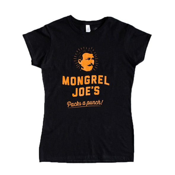 Mongrel Joe's Strong Coffe Ladies T-Shirt