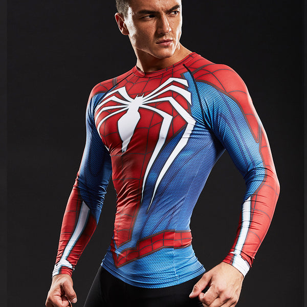 T-shirt Spiderman compression