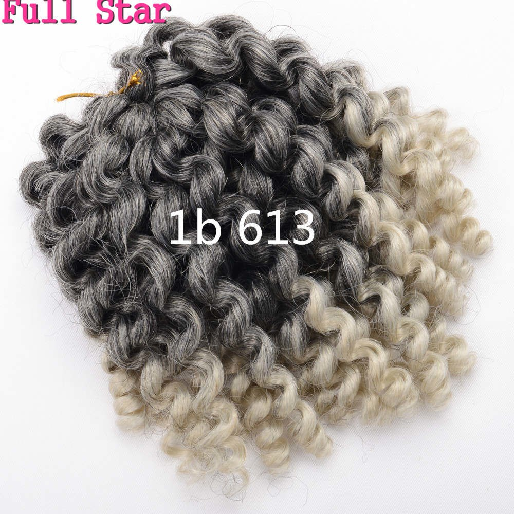 1-9 Packs/Lot Wand Curls Crochet Braids Hair 8 inch Full Star Bounce Jamaican Afro Fluffy Jumpy 20strands/pack Mambo Twist Hair