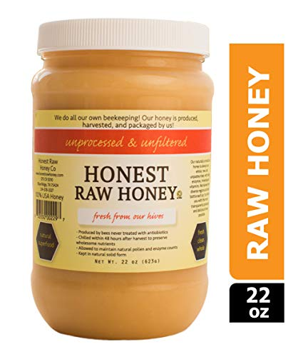 Honest Raw Honey, Pure Natural American Honey, 22 Ounce
