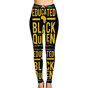 African Educated Black Queen Women's Yoga Pants Ultrasoft Performance Active Stretch Running Leggings
