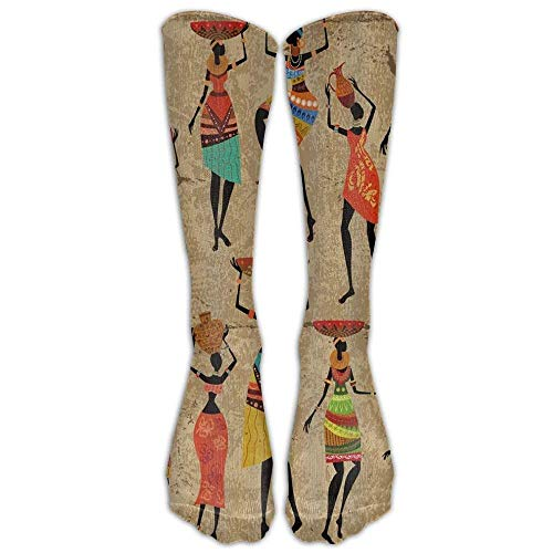 African Women Afrocentric Artwork Women Graduated Compression Socks Anti Fatigue Knee High Socks For Men Women Pain Ache Relief Stockings