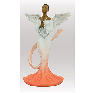 Sash Angel in Orange African American Angel Statue