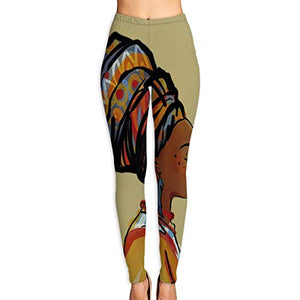 Women's Girl African Woman High Waist Casual Leggings Tights Yoga Pants Running Pants Stretchy Sport Pilates Workout Long Sportswear