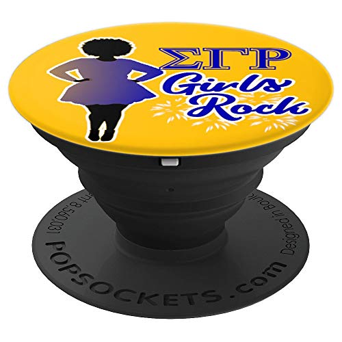 Sigma Gamma SGRho Rho Girls Rock 1922 Sorority Gift Grip - PopSockets Grip and Stand for Phones and Tablets: Cell Phones & Accessorie