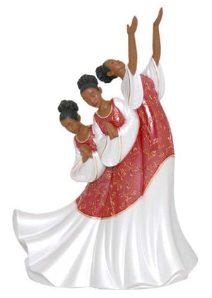 African American Praise Dancer: Giving Praise in Red