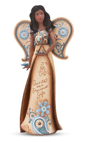 Pavilion Gift Company Perfectly Paisley 7-1/2-Inch Angel with Butterflies, Aunt
