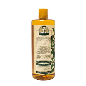 Dr. Jacobs Naturals Pure Castile Liquid Soap - Natural Face and Body Wash, Sweet Tea Tree, 32 oz - Free of Parabens, Sulfates, Synthetics, Gluten and GMO