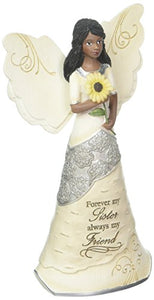 Forever My Sister Ebony Angel Figurine, 6-1/2""