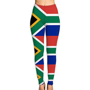 South African Flag Gym Yoga Pants High Waist Tummy Control Workout Pants for Women Running Fitness Yoga Leggings