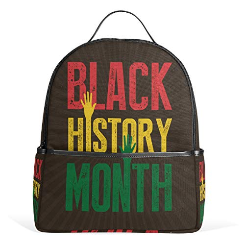 Black History Month Sunburst Backpack Womens Laptop Daypack School Hiking Mens Travel Bags