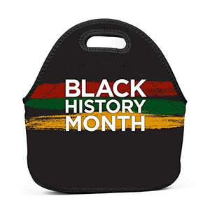 Neoprene Lunch Bag - Black History Month Lunch Tote Bags for Women & Girls - Lunch Boxes for Kids & Adult Lunch Box