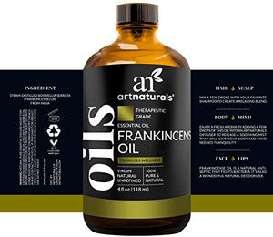 ArtNaturals 100% Pure Frankincense Essential Oil - (4 Fl Oz / 120ml) - Natural Undiluted Therapeutic Grade - Premium Aromatherapy Quality Oil : Health & Personal Care