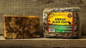 African Black Soap - Bulk 1lb Raw Organic Soap for Acne, Dry Skin, Rashes, Burns, Scar Removal, Face & Body Wash, Authentic Beauty Bar From Ghana West Africa - Incredible By Nature: Beauty