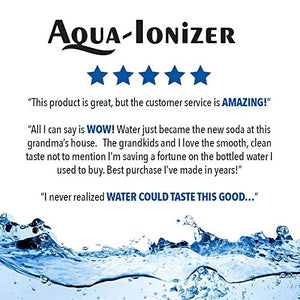 Air Water Life Aqua Ionizer Deluxe 9.0 | Best Home Alkaline Water Filtration System | Produces pH 3.0-11.5 Alkaline Water | Up to -860mV ORP | 4000 Liters Per Filter | 7 Water Settings