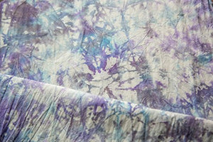 "Hydrangea Bengkung Belly Bind 17yard x 9"" - Artisan Hand Dyed (Post-Partum Belly binding)"