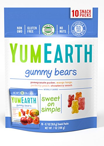 YumEarth Natural Gummy Bears, 10 Count, net wt. 7oz (Packaging May Vary) : Gummy Candy