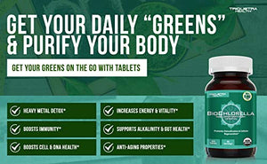 Organic Chlorella: 360 Tablets - 4 Organic Certifications - Broken Cell Wall Form, Blue Green Algae - Raw, Sun-Grown, Non-Irradiated | Compliments Spirulina: Health & Personal Care