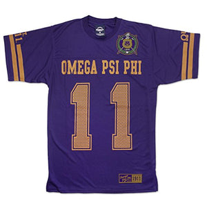 Omega Psi Phi Fraternity Mens New Jersey Tee Purple