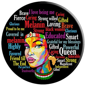 Africa Educated Black Queen Melanin Afro Gift - PopSockets Grip and Stand for Phones and Tablets
