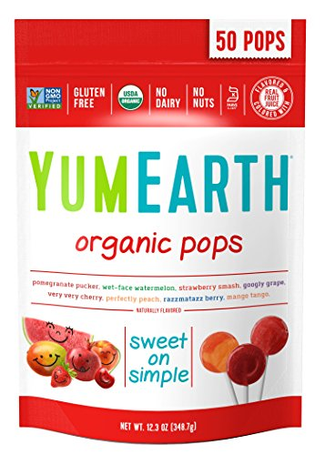 YumEarth Organic Lollipops, Assorted Flavors, 50 Lollipops : Suckers And Lollipops