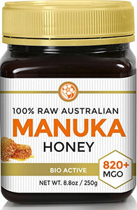 RAW MANUKA HONEY MGO 820+ (NPA 20+) * Medicinal Strength - Highest Certified Rating * BPA Free Jar * Cold Extraction * Independently Verified
