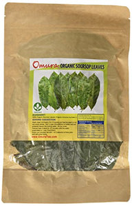 Omura ORGANIC SOURSOP Guanabana Graviola For TEA 200 LEAVES : Grocery & Gourmet Food