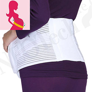 Maternity Pregnancy Support Belt/Brace - Back, Abdomen, Belly Band - NEOtech Care brand - White - Size XL: Health & Personal Care