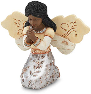 Elements In Faith Ebony Angel Figurine , 3-1/2-Inch, Praying