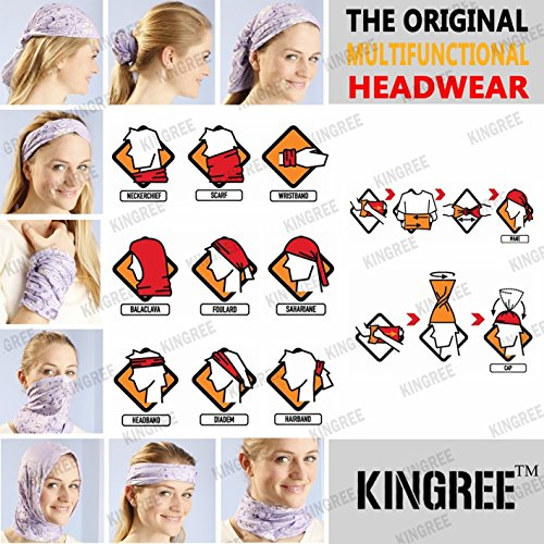9PCS Headbands, Outdoor Multifunctional Headwear, Sports Magic Scarf, High Elastic Headband with UV Resistance, Athletic Headwrap, Mens Sweatband, Womens Hairband : Sports & Outdoors