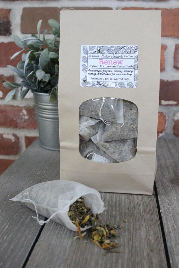 Postpartum Herbal Bath - Organic Herbs - Pack of 7 sachets - For after childbirth - Sitz Bath - Relaxation after birth