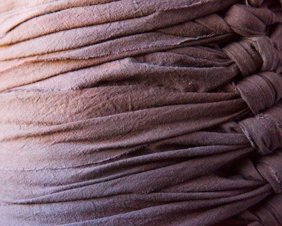 "Arabica Bengkung Belly Binding - 17 Yards x 9"", Hand dyed, Premium Unbleached Cotton Muslin 