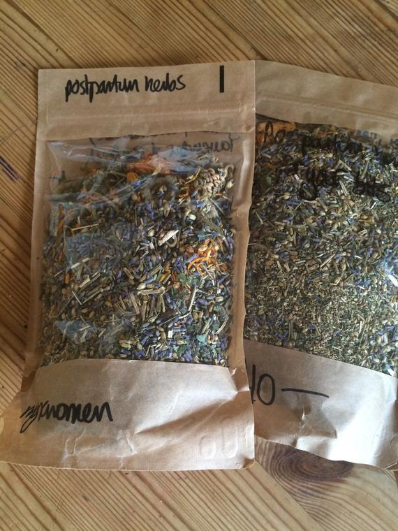 Postnatal herbs (v-steam or bathe)