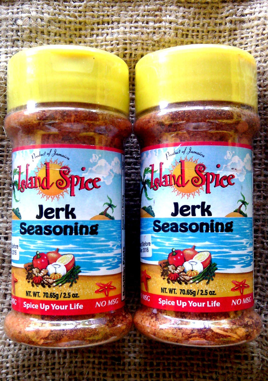 Island Spice jerk seasoning spicy from Jamaica 2 oz x 2 bottle