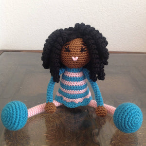 Black Doll -MADE TO ORDER - Toy Baby Girl baby shower nursery Gift birthday christmas black girl magic melanin poppin