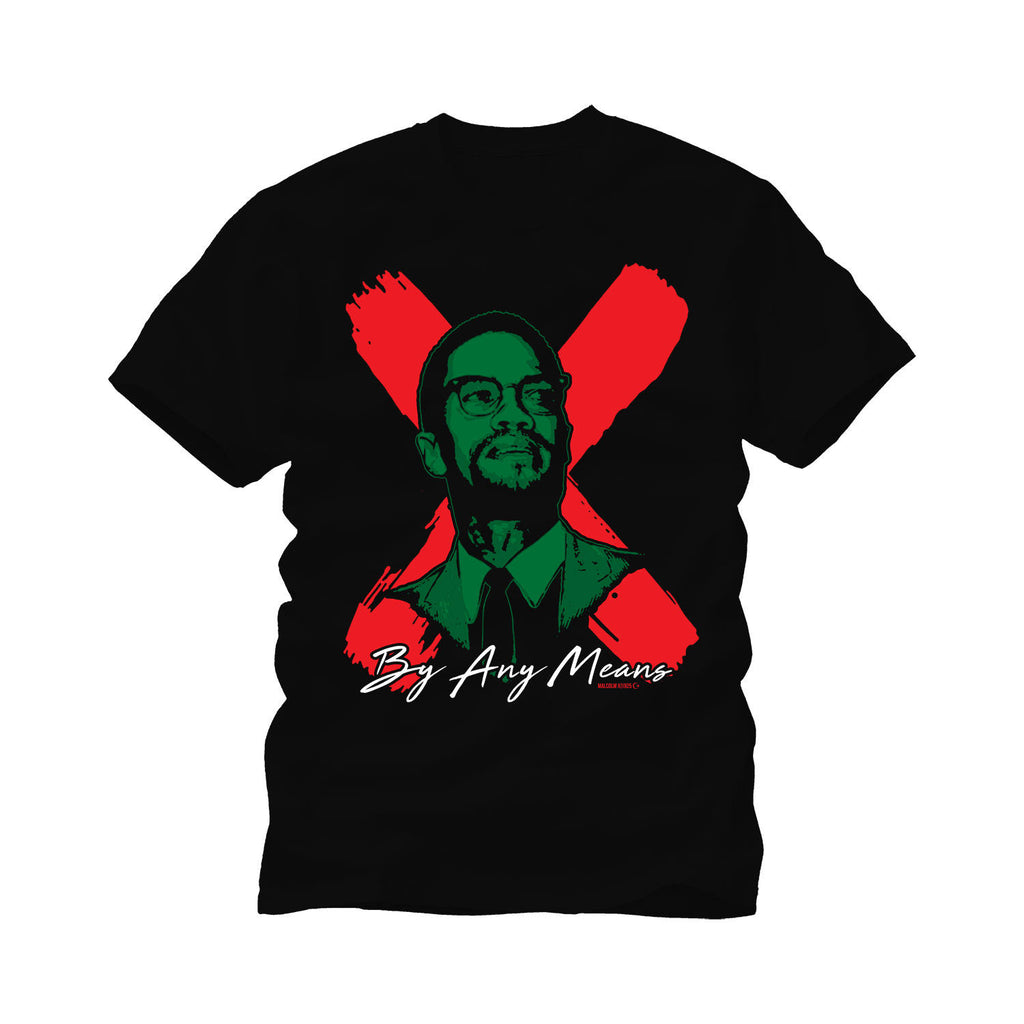 Malcolm X Flag Color tee shirt//Black history gift// Black Lives Matter//Aretha Franklin.