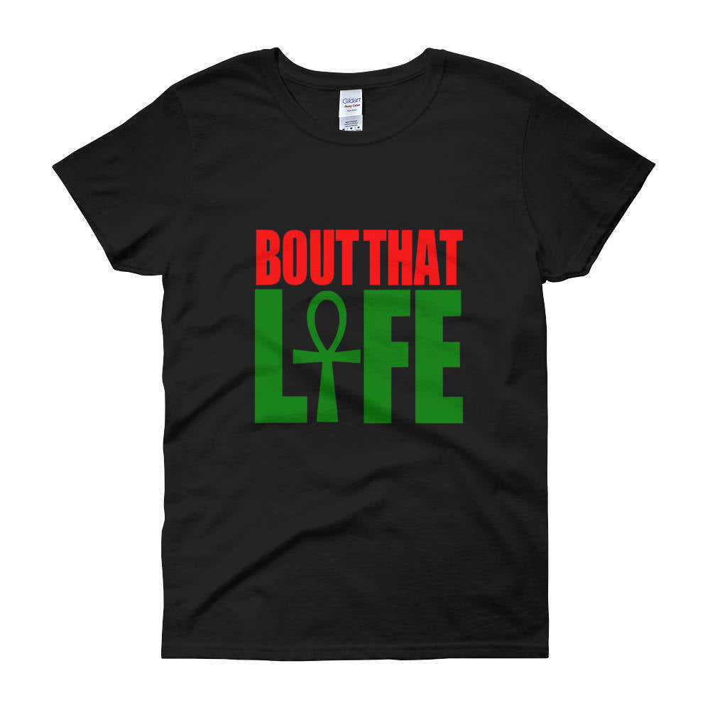 Bout That Ankh Life Women's TShirt // Egyptian Clothing // Ankh Shirt // Hotep Shirt // African Clothing for Women // RBG // Pan African