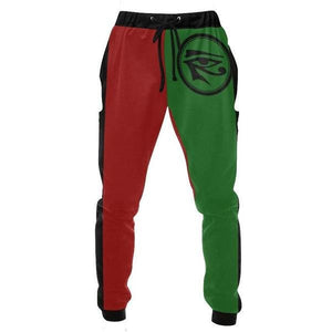 Jogger Sweat Pants w/ Eye of Heru // Eye of Horus // Pan African Clothing // Mens African Clothing // Mens Sweatpants // Jogger Pants