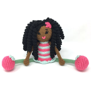 Black Doll -MADE TO ORDER -Black girl magic curls twists African American Natural Hair Stuffed Toy Baby Girl Gift