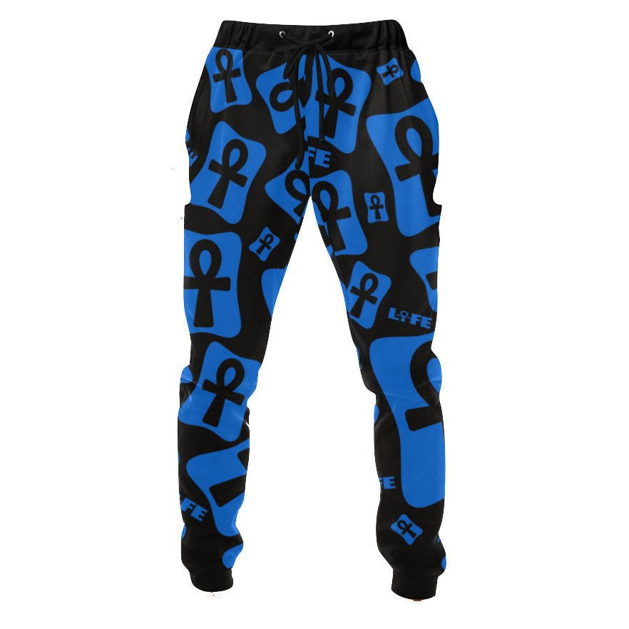 Ankh Jogger Running Pants / AnkhLife // African Clothing for Men // Mens African Clothing // Mens Jogger Pants // African Pants  Unisex