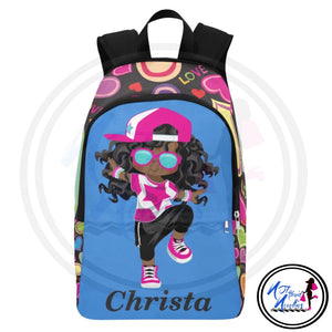 Girl backpacks. African American Girl Hip Hop Dancer Backpacks. Girl Dancer. Black girls rock. Back to school. Backpacks. Rock in style.