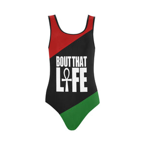 RBG Pan African One Piece Ankh Swim Suit // Egyptian Clothing for Women // Summer Wear / Swim Wear  // Afrocentric Bathing Suit // Ankh Life
