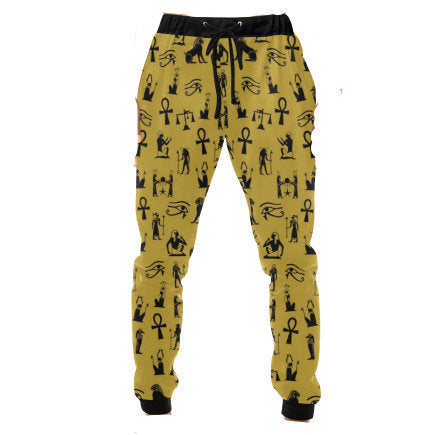 Egyptian Sweatpants //African Clothing for Men // Ankh Clothing // Jogger Pants // African Lounge Pants Unisex // Hieroglyph Mdw Ntchr