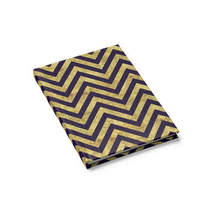 Purple And Gold Chevron Stripes Journal  Blank Art Book Sketch Book Drawing Pad Notebook Stationery Office Ethnic Egyptia