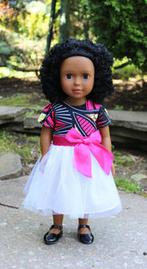 "Black Doll - 18"" African American Doll with Medium Brown Skin"