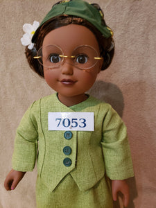 Rosa Parks Doll - 18 inch doll - Historical doll - black doll - African American Doll - Black History doll - first lady of civil rights