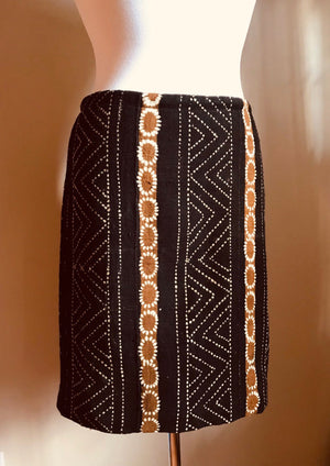 Mudcloth Pencil Skirt, Mudcloth Fabric, Mudcloth Clothing, One of a kind Skirt